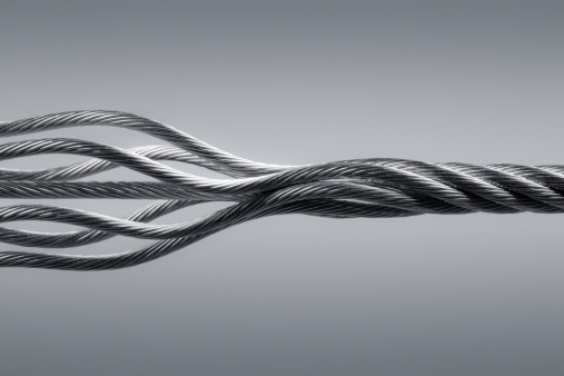 Extreme Close-Up「Wire rope. Connection Steel Link Strength Twisted Cable Abstract」:スマホ壁紙(12)