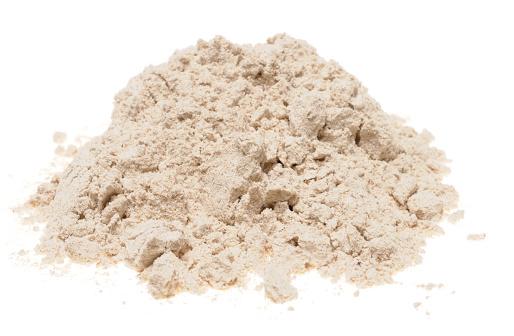 Buckwheat「Pile of buckwheat flour on a white background」:スマホ壁紙(4)