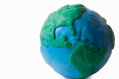 Child's Play Clay「Clay globe modeled by child 」:スマホ壁紙(16)