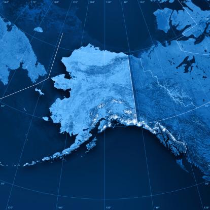 Arctic Ocean「Alaska Topographic Map」:スマホ壁紙(14)