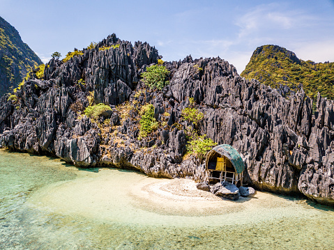 Remote Location「Lonely Beach Hut Tapiutan Island El Nido Palawan Philippines」:スマホ壁紙(18)