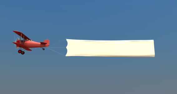 Propeller Airplane「Airplane towing a banner」:スマホ壁紙(12)