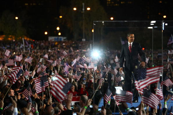 Success「Barack Obama Holds Election Night Gathering In Chicago's Grant Park」:写真・画像(1)[壁紙.com]