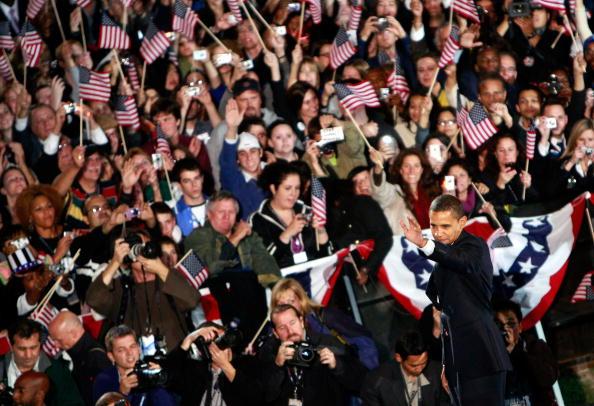 Success「Barack Obama Holds Election Night Gathering In Chicago's Grant Park」:写真・画像(14)[壁紙.com]