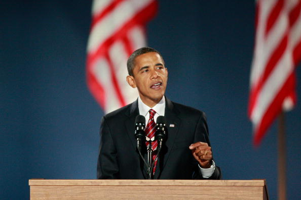 Speech「Barack Obama Holds Election Night Gathering In Chicago's Grant Park」:写真・画像(4)[壁紙.com]