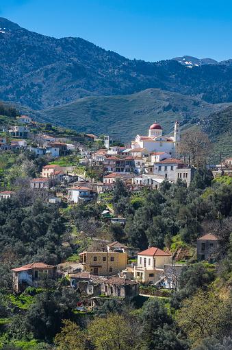 Aegean Sea「Greece, Crete, mountain village Lakkoi」:スマホ壁紙(7)