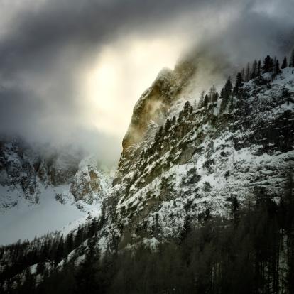 スキー場「趣のある山のドロミテます。」:スマホ壁紙(12)