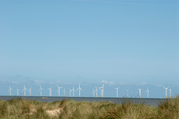 Copy Space「Scoby Sands offshore wind-power site, Great Yarmouth, United Kingdom」:写真・画像(5)[壁紙.com]