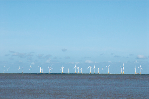 Copy Space「Scoby Sands offshore wind-power site, Great Yarmouth, United Kingdom」:写真・画像(3)[壁紙.com]