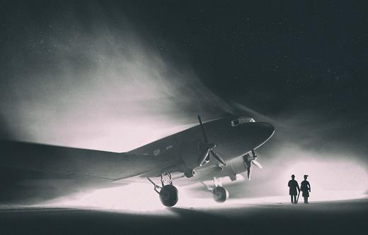 Passenger「DC-3 Dakota In The Fog, Model Photography」:スマホ壁紙(1)