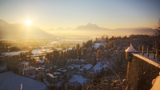 Hohensalzburg Fortress「Winter Sunset in the Alps」:スマホ壁紙(19)