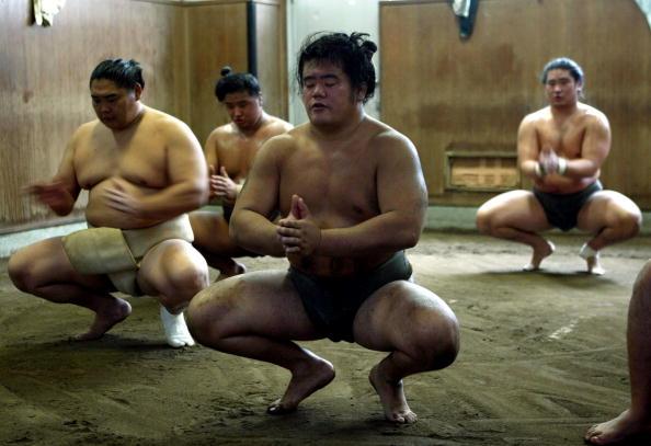 旭鷲山「Sumo Wrestlers Prepare For Tournaments」:写真・画像(2)[壁紙.com]