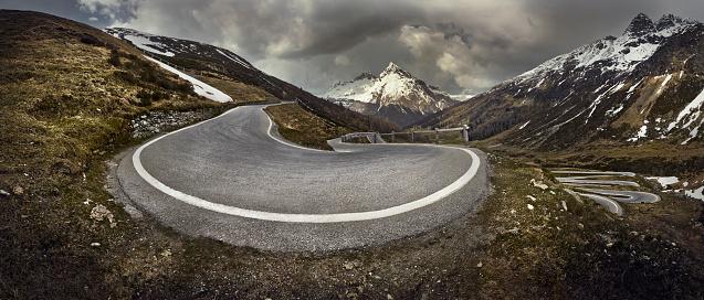 Rolling Landscape「Curved mountain road」:スマホ壁紙(2)