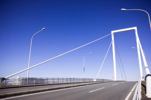 神奈川県「Motorway and Clear Blue Sky」:スマホ壁紙(16)