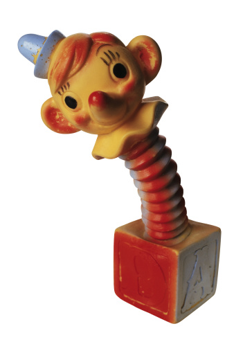 1990-1999「Antique clown jack-in-the-box toy」:スマホ壁紙(19)