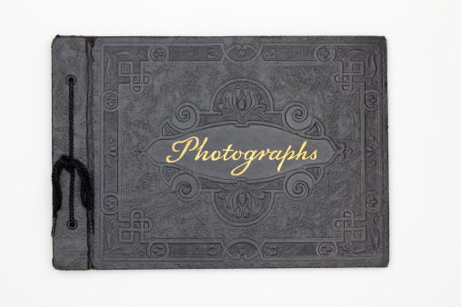 19th Century「Antique Photography Book Cover, Old Black Leather Photograph Album」:スマホ壁紙(15)