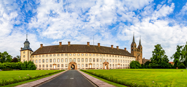 Abbey - Monastery「Germany, North Rhine-Westphalia, Hoexter, Carolingian Westwork and Civitas Corvey」:スマホ壁紙(0)