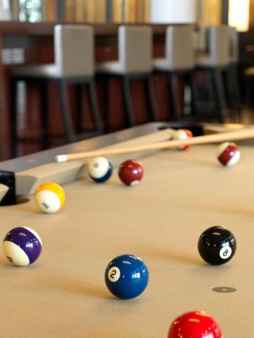 趣味・暮らし「プールまたは Billard テーブルに、アップスケールなラウンジ」:スマホ壁紙(8)