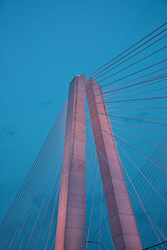 Wire Rope「Looking up at towers and cables of new Mario Cuomo Bridge」:スマホ壁紙(3)