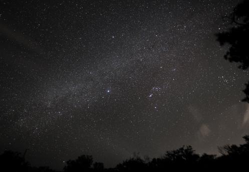 星空「で星空を見上げるの夜空」:スマホ壁紙(5)