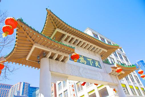 Chinese Lantern「Looking up at Boston's Chinatown Gate」:スマホ壁紙(11)