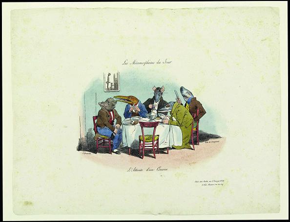 Lithograph「Les Métamorphoses Du Jour. Lattente Dun Convive (The Metamorphoses Of The Day. Waiting For The Gue Creator: Grandville,」:写真・画像(19)[壁紙.com]