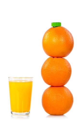 Orange - Fruit「Orange Bottle with Juice」:スマホ壁紙(13)