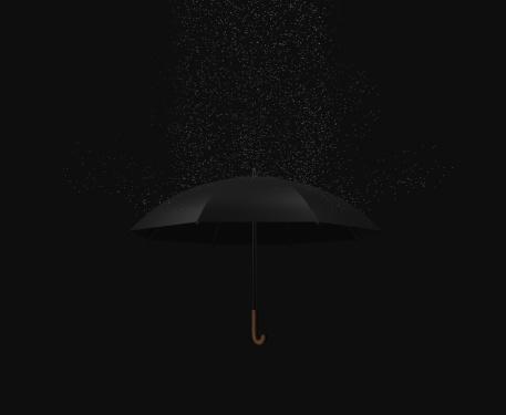 雨「Rain falling on to umbrella」:スマホ壁紙(0)