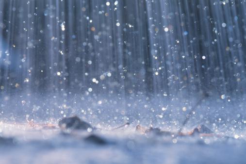 雨「Rain falling on ground」:スマホ壁紙(18)