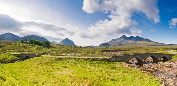 スコットランド文化「ドラマティックな山頂素朴な road」:スマホ壁紙(10)