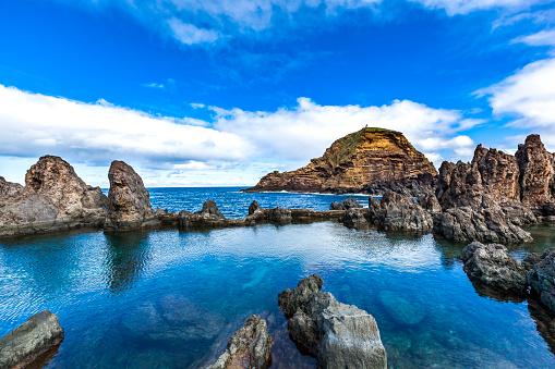 Lava「volcanic nature swimming pools, madeira island, portugal」:スマホ壁紙(6)