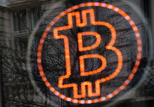 Bitcoin LED sign:スマホ壁紙(壁紙.com)