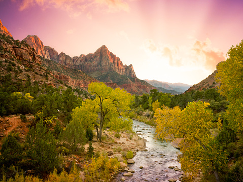 National Park「Beautiful Zion National Park Landscape (XXL)」:スマホ壁紙(6)