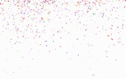 New Year「Multicolored confetti」:スマホ壁紙(14)