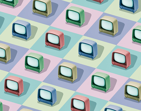 Digital Composite「Multicolored television sets」:スマホ壁紙(4)