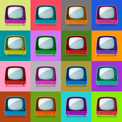 Digital Composite「Multicolored television sets」:スマホ壁紙(0)