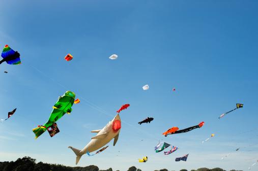 お祭り「マルチカラーの大凧アゲインストクリアブルースカイ」:スマホ壁紙(18)