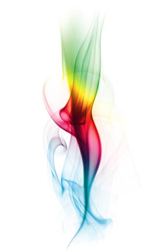 虹「マルチカラーのスモーク」:スマホ壁紙(3)