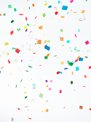 White Background「Multicolored Confetti on White Background」:スマホ壁紙(13)