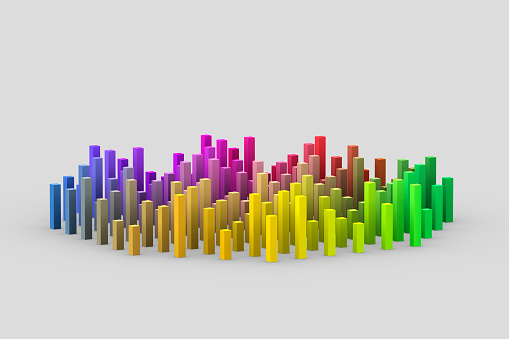 Digitally Generated Image「Multicolored columns of different heights」:スマホ壁紙(4)