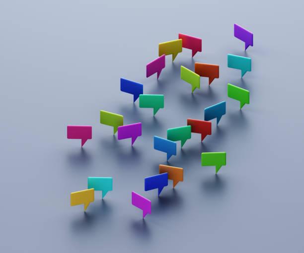 Multicolored speech bubbles:スマホ壁紙(壁紙.com)