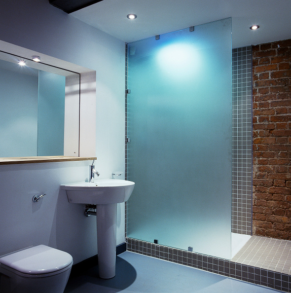 Brick Wall「Apartment bathroom Chorlton Mill Manchester, United Kingdom」:写真・画像(16)[壁紙.com]