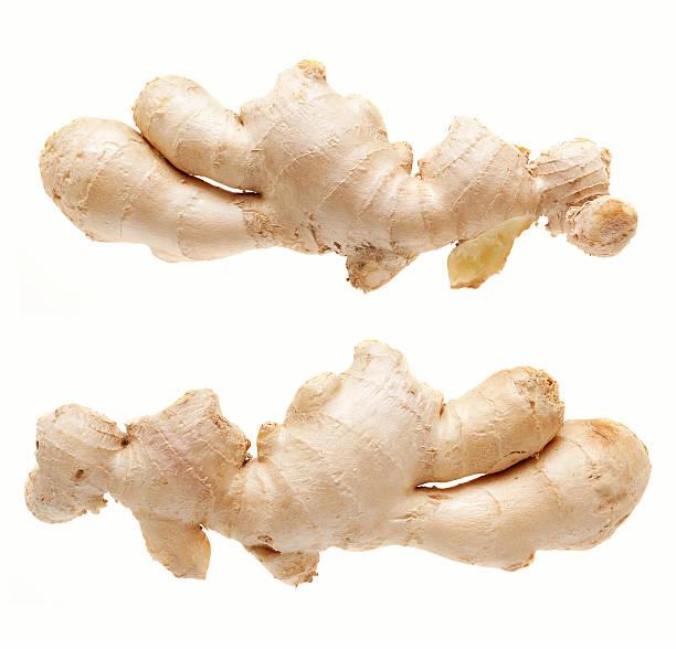 Ginger root isolated on white background (XXXL):スマホ壁紙(壁紙.com)