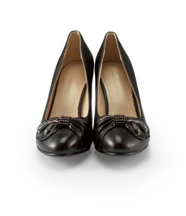 Funky「Black female shoes on a white background」:スマホ壁紙(15)