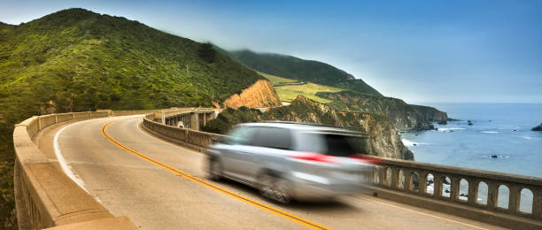 Bixby Creek Bridge panoramic Big Sur, California, USA:スマホ壁紙(壁紙.com)