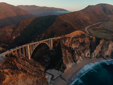Big Sur「Bixby Creek Bridge at Big Sur Coastline, California, USA」:スマホ壁紙(2)