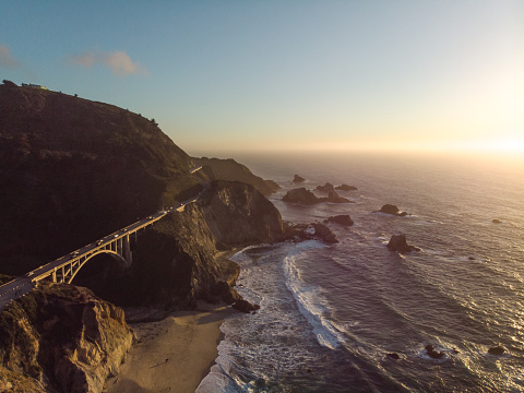 Big Sur「Bixby Creek Bridge at Big Sur Coastline, California, USA」:スマホ壁紙(15)