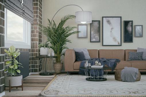 Ranch House「Domestic Living room interior design」:スマホ壁紙(12)