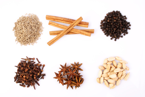 Star Anise「Variety of spices on a tabletop」:スマホ壁紙(8)