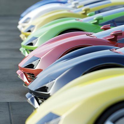 Car Dealership「A variety of cars at a car dealership」:スマホ壁紙(9)